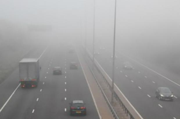 Fog caused problems for commuters on the M5 this morning.