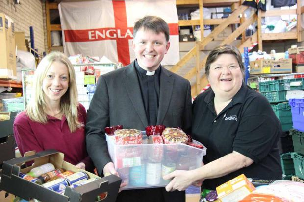 Evesham Journal: Bishop Graham at Black Country Foodbank