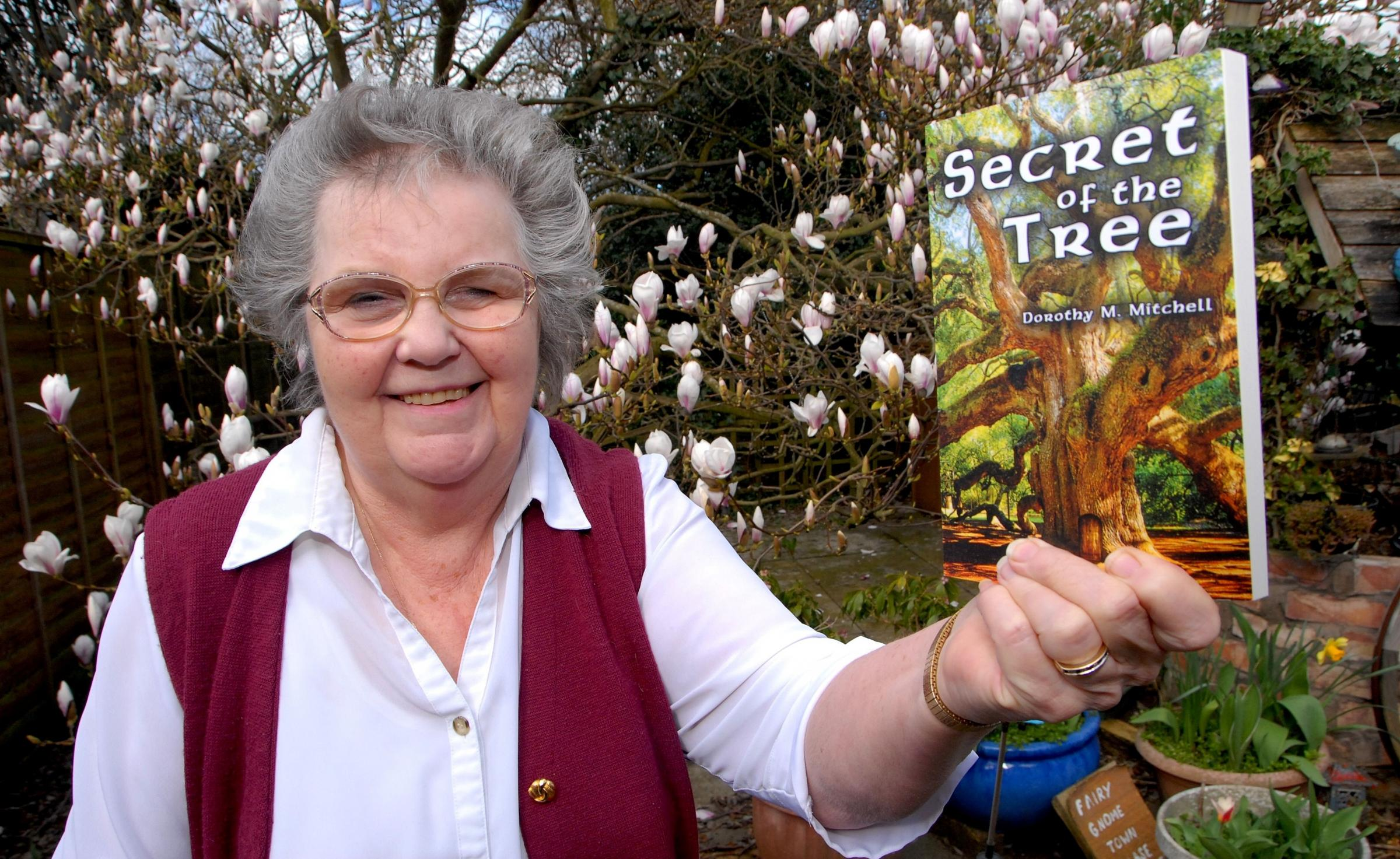 Dorothy Mitchell with her new book Secret of the Tree. Photo by Paul Jackson (1214548601).