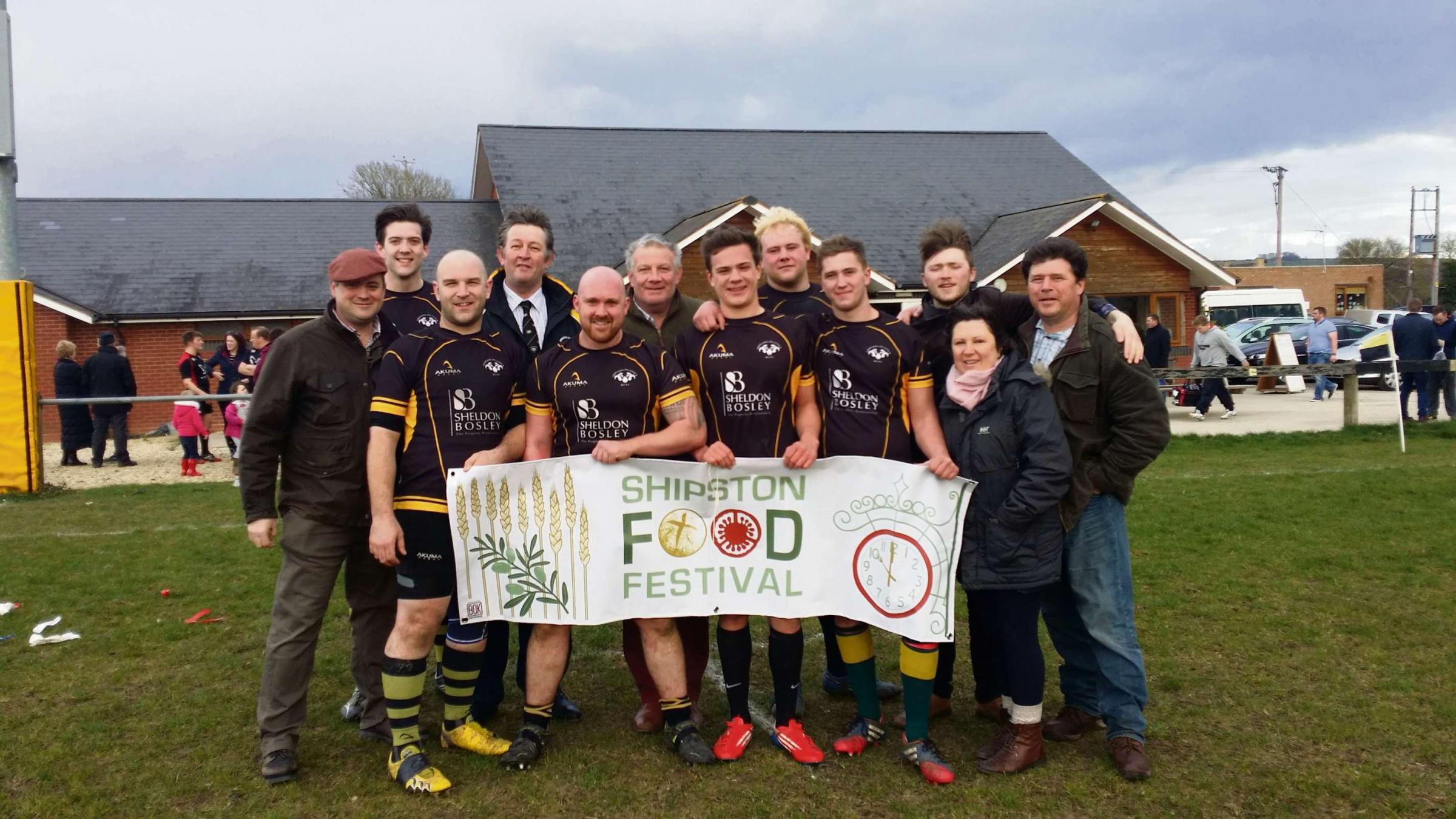 Members of Shipston Rugby Club launch the 2014 Beer Festival