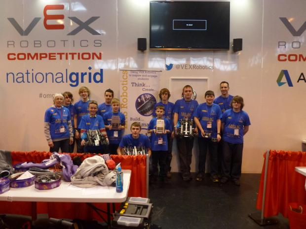 Robotics teams from Evesham High School worked hard to get to the national finals of the VEX championships.