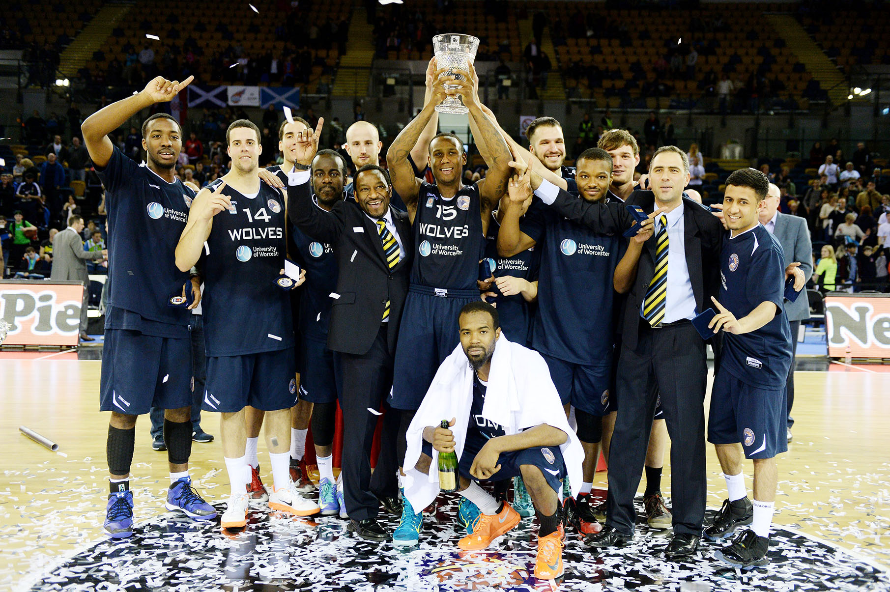 Worcester Wolves won a trophy at the weekend.