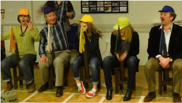 Doctors from Bidford medical centre tried their hand at chair jockeying at a recent race night in Salford Priors.