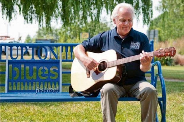 Benny Gallagher at last year's Upton Blues Festival