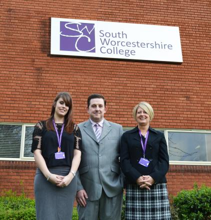 New team, Claire Adlam, business development officer, Perry Perrott, director of business development and Donna Harris, work based learning operations manager.
