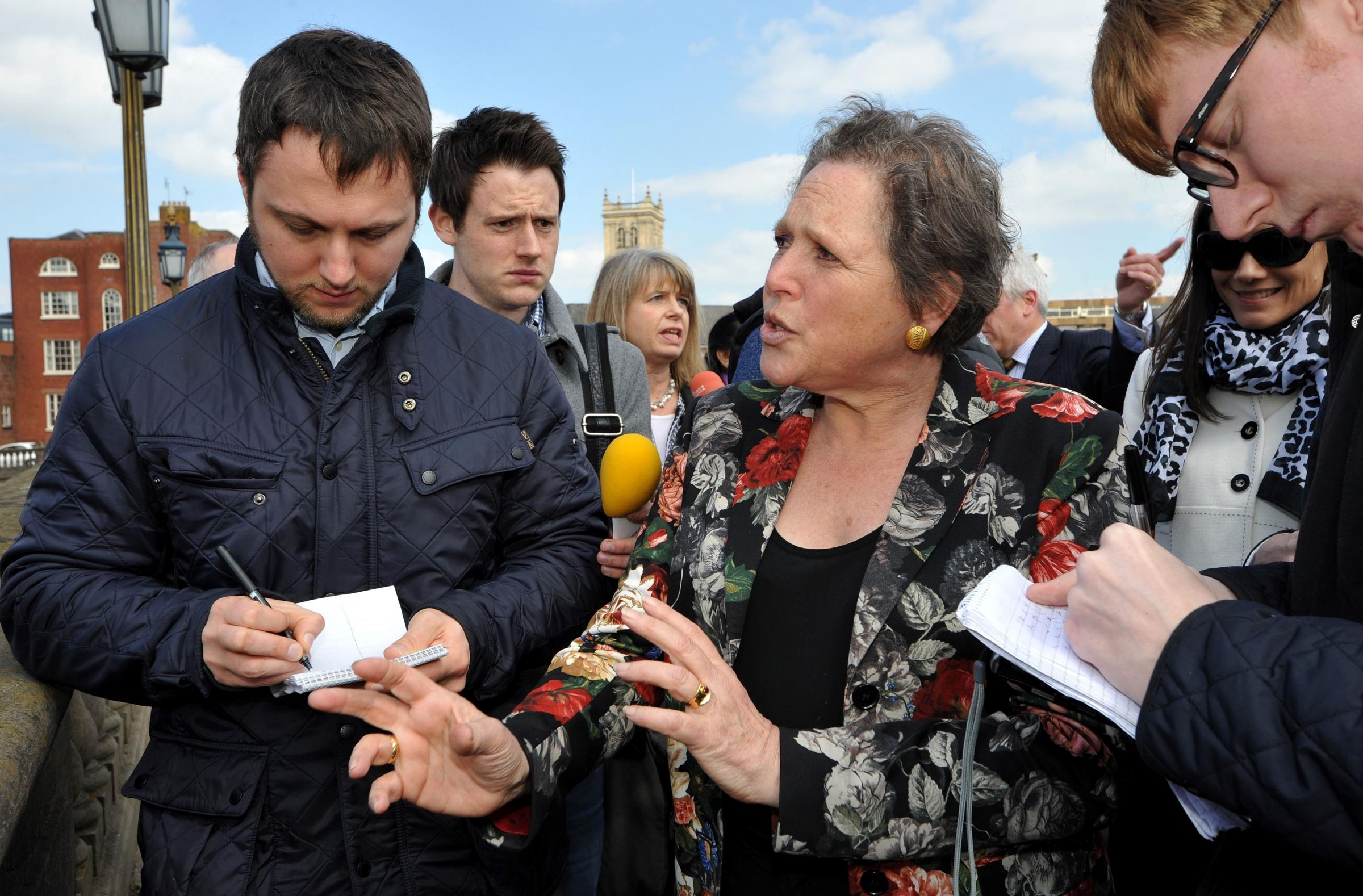Transport minister Baroness Kramer learns how Worcestershire coped with floods