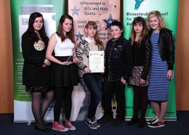 The Ourside Junior Jam Group were given a Tryangle award for their hard work. (Left to right) Sarah Kitching, Louise Brendon, Ceara Campbell, Joseph Young-McClone, Isabella Dix and Geena Egan.