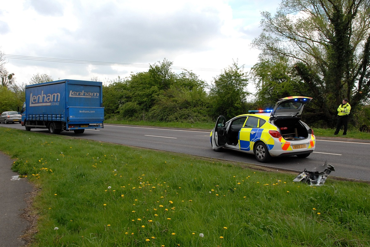 MIX-UP: The scene at Broomhall Way, Worcestershire today