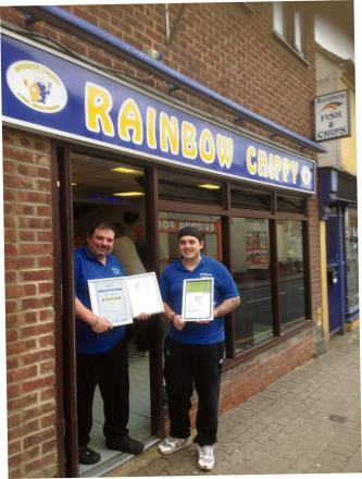 WARM WELCOME: Rainbow Chippy owners Gigsy and Sthathi