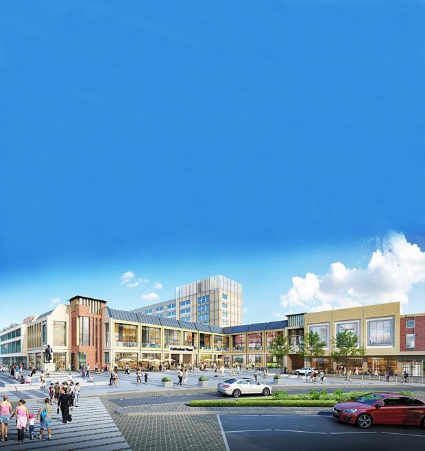 Evesham Journal: VISION: How the new Cathedral Plaza would look
