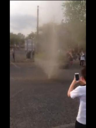 VIDEO: Bizarre 'Mini tornado' caught on camera in Worcester