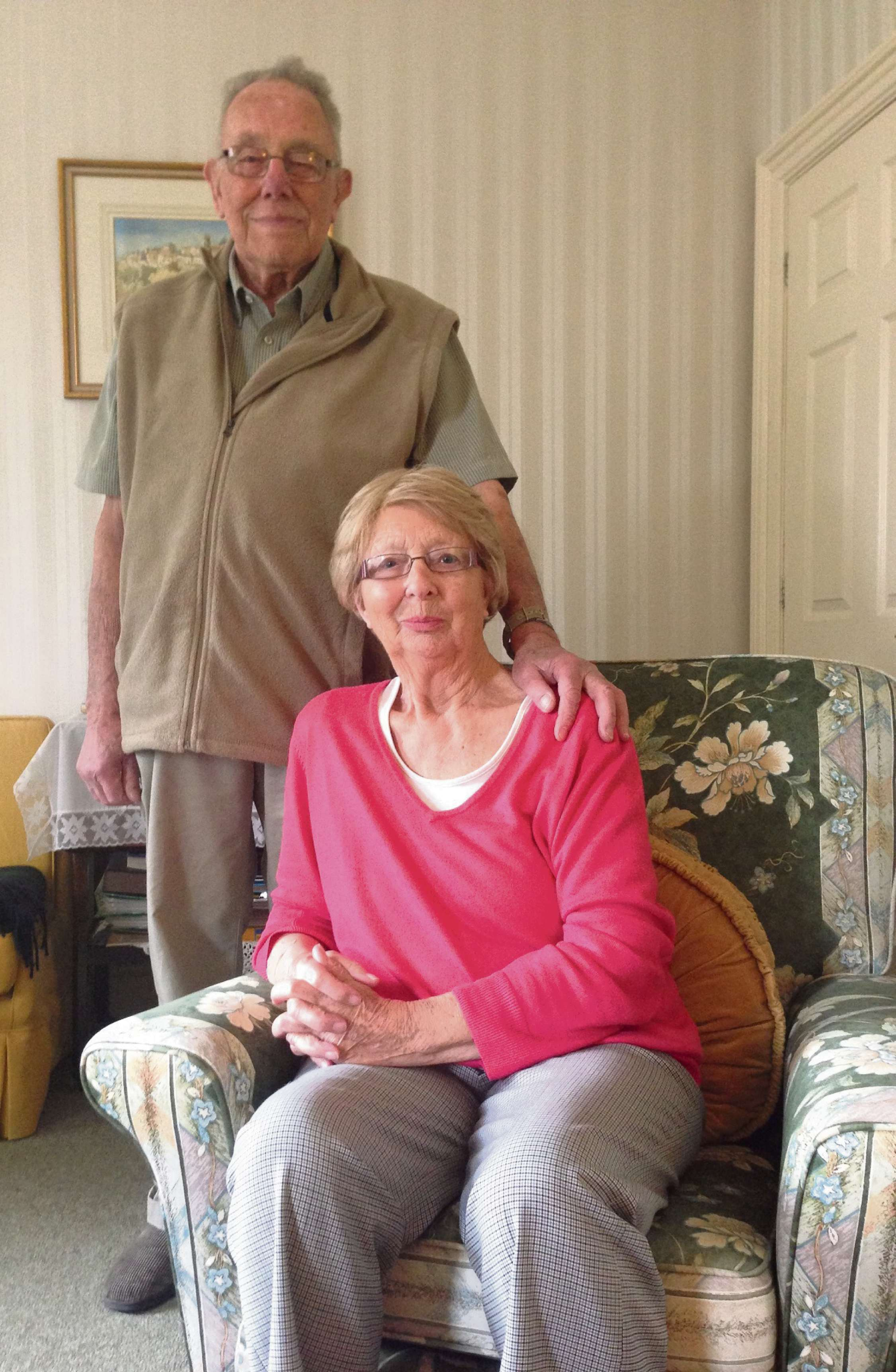 Couple both living with cancer praise support of St Richard's Hospice