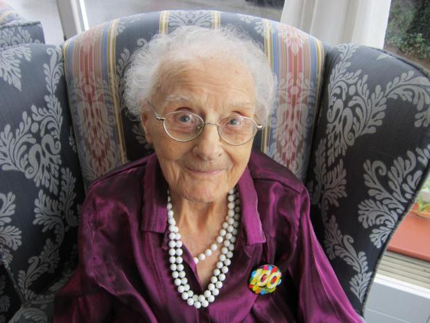 Evelyn Jones celebrating her 100 birthday last year.