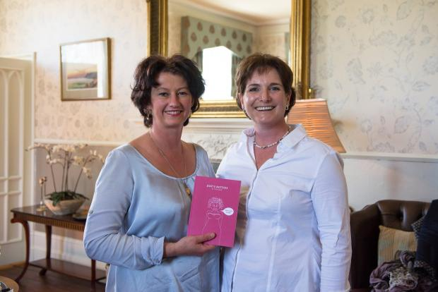 Author Tracey Jacob, right, with Margaret Owen, owner of Lemore Manor. Photo by Susie Mackie.