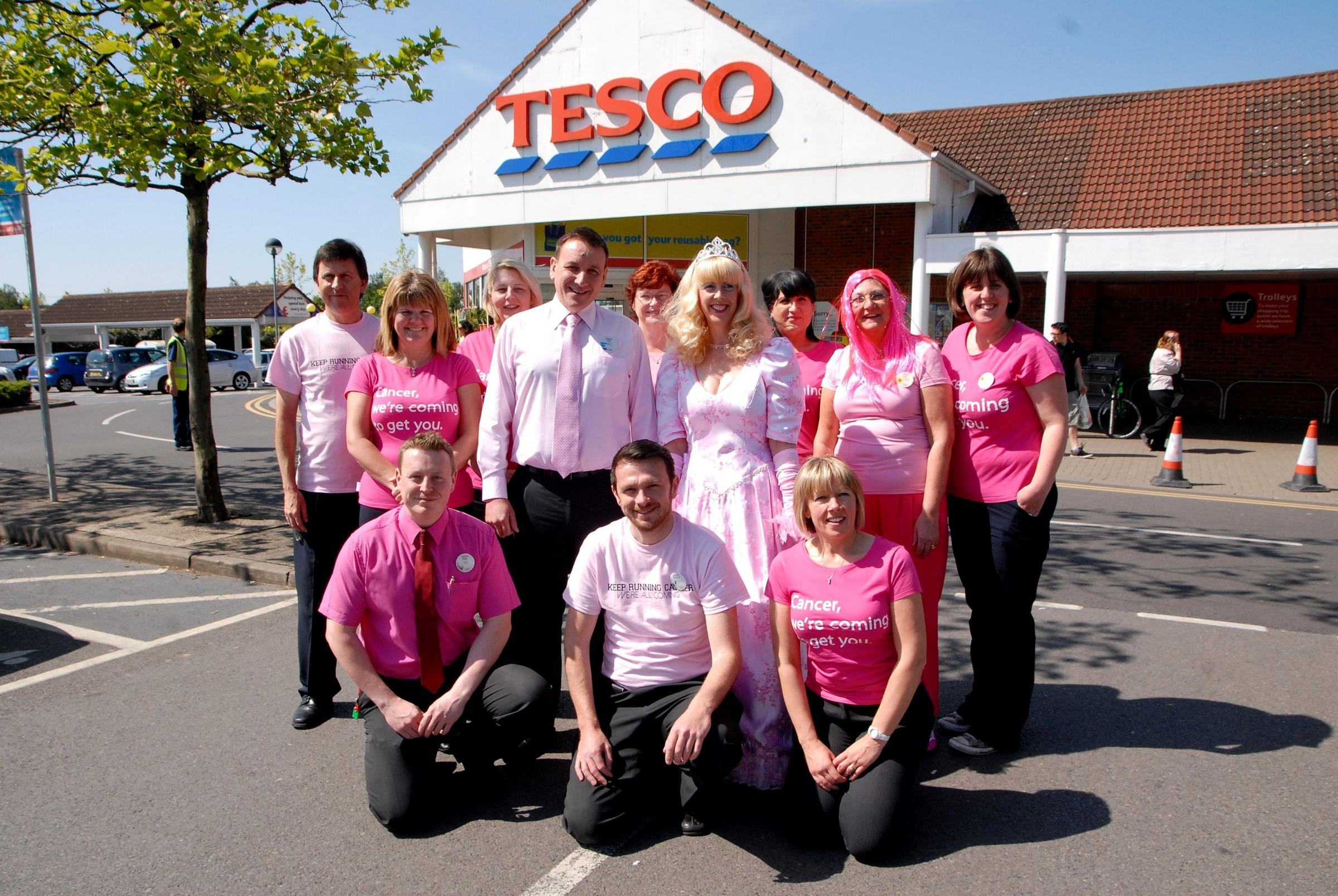 Supermarket is tickled pink for charity