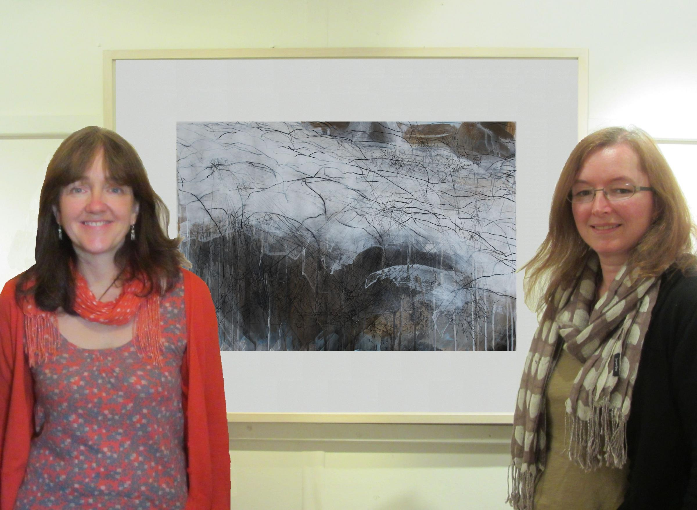 Artists Sara Dudman and Debbie Locke