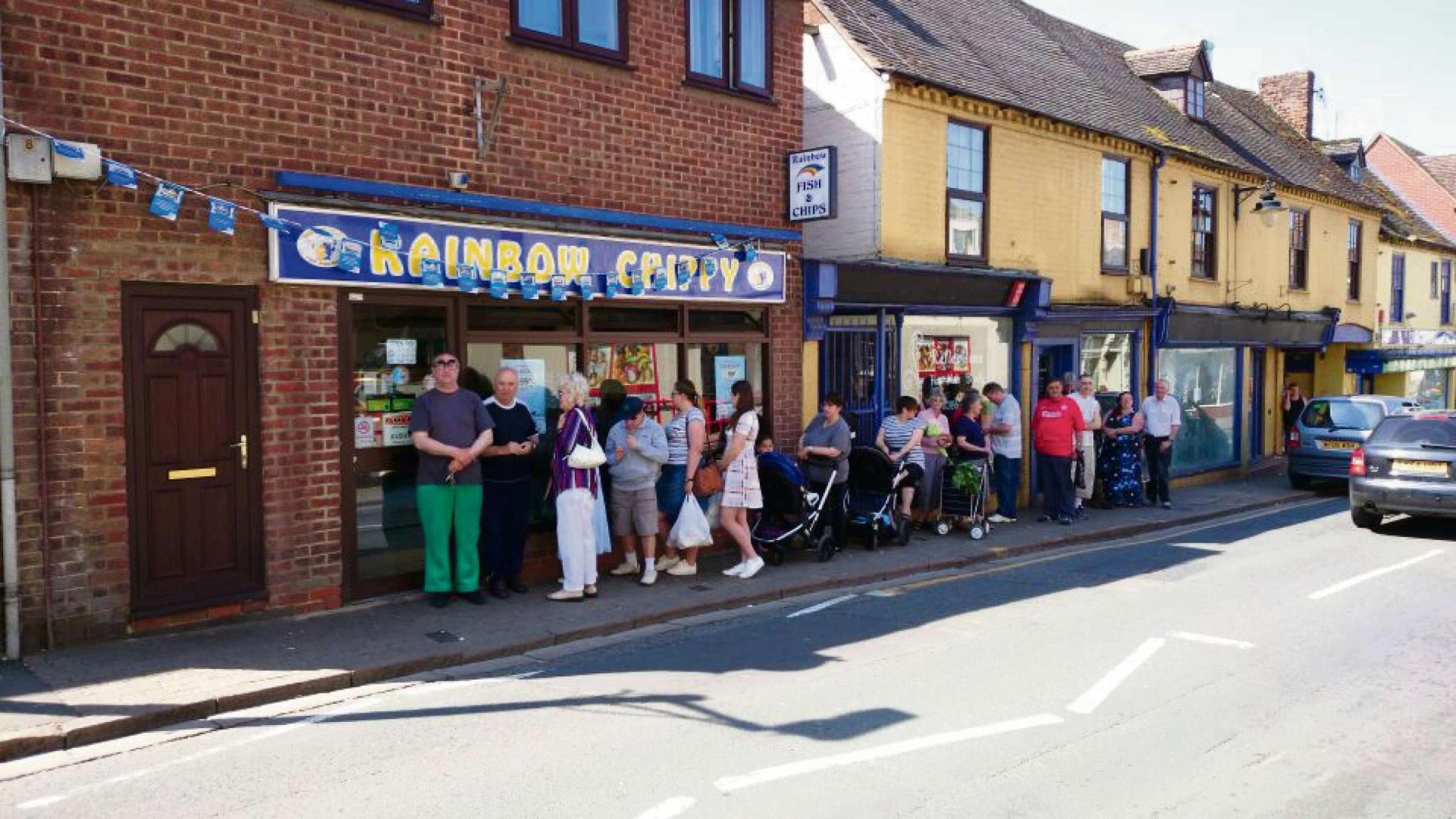Fishs and chips at just 99p were a big hit in Evesham.
