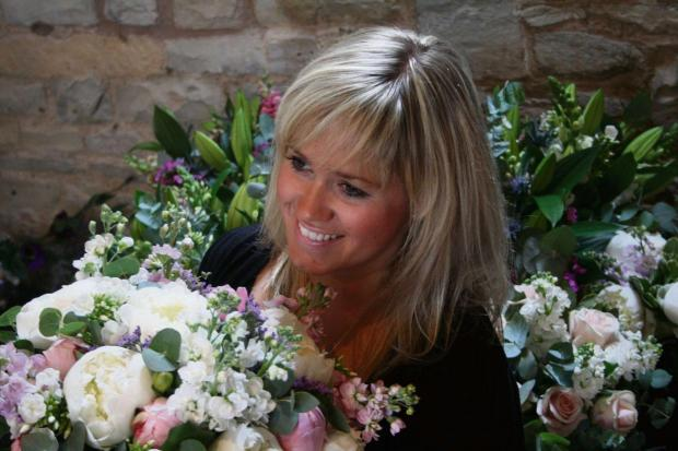 Evesham Journal: Rose Hamson, a Bidford florist won a gold at the Chelsea Flower Show.