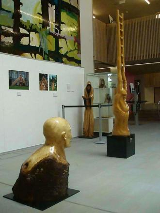 Ed Elliott's exhibition in the Hive.
