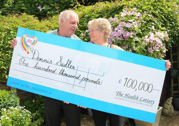 Health Lottery winner Dennis Sadler with his wife Dianne.