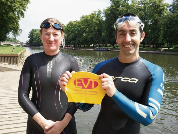 Sara Turner and Lee Tresigne are part of the Evesham Vale Triathletes group.