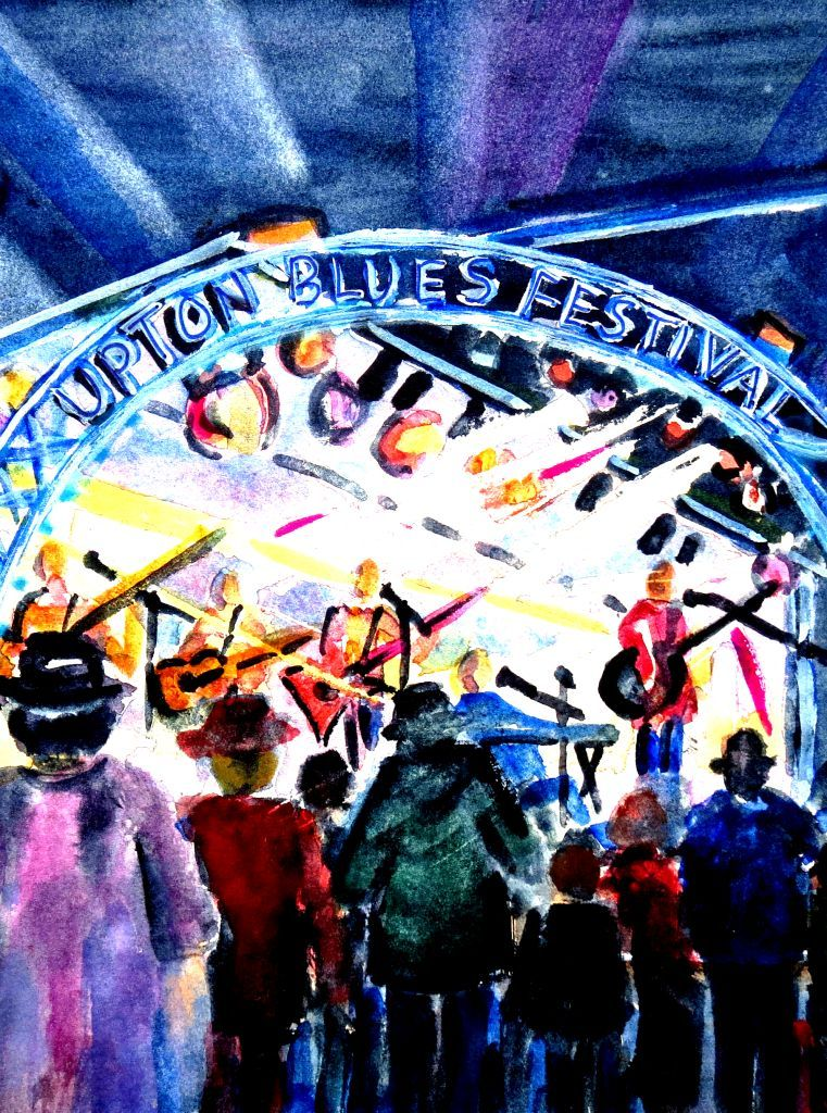 An Upton Blues Festival scene by Glynis Dray