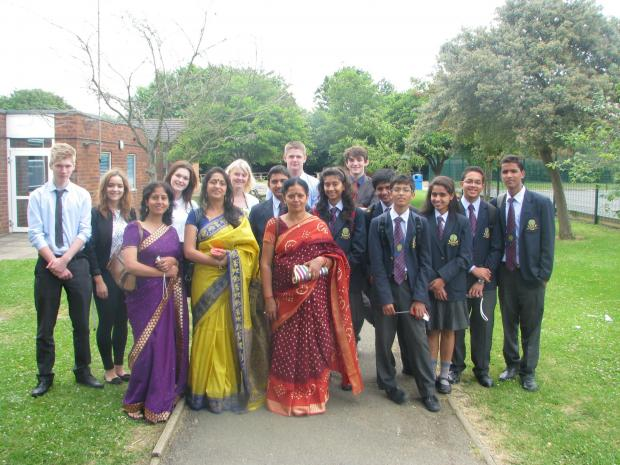 Evesham Journal: Staff and students at Evesham High School and Simon de Montfort Middle School welcomed visitors fromMayoor School in Ajmer, India.