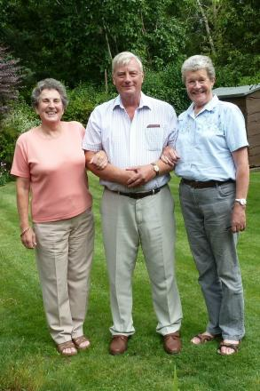 Helen Salter, Peter Jesson and Jane Hall during their first meeting.