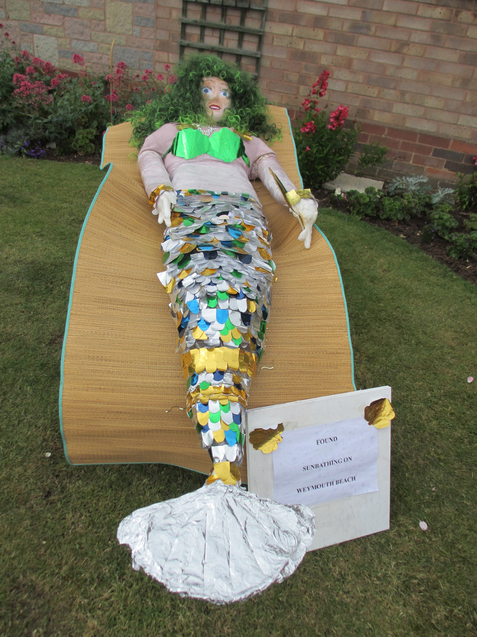 Scarecrows sun themselves at village event