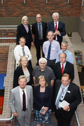 Members of the House of Commons Health Select Committee with representatives from health bodies in Worcestershire