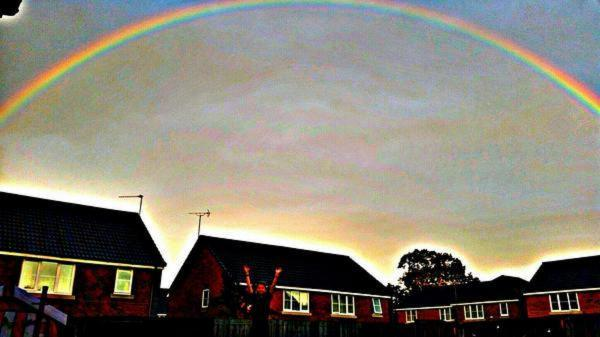 BEAUTIFUL: This rainbow picture was tweeted by Rebecca Sheree
