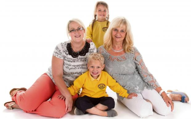 Jemma Knight and Jenny Barnsley with children, Connie Proctor and Finley Thorn. Photo courtesy of Time Lock Photography.