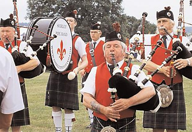 FLASHBACK: The Shirley Pipe Band performing at last year's Badsey Flower Show.