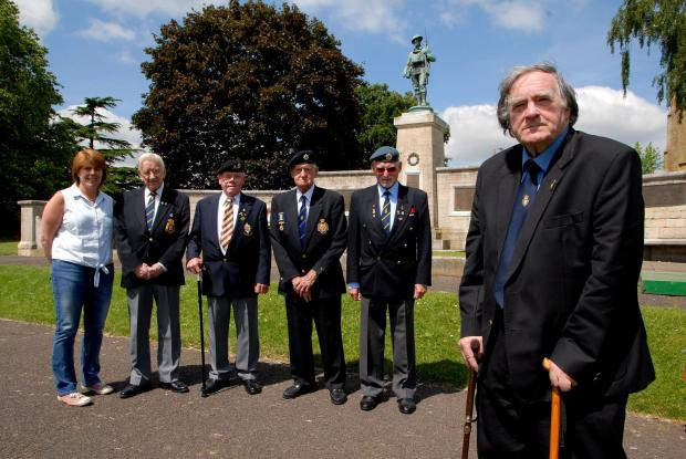 2514625301 Paul Jackson 17.06.14 Evesham Alan Booth, chairman  of Evesham Royal British Legion is worried that without new members it will close. From left - Fiona George, Jeff King, Brian Vann, Danny Rollinson, chairman Bretforton RBL, Noel Wilkes and Al