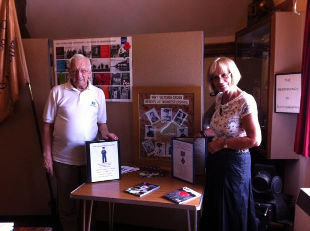 Curator Jeff King, former chair of the Royal British Legion, and Adele Webb, Almonry Heritage Centre assistant.