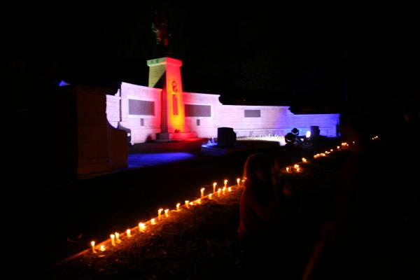 Evesham remembers with lights out commemoration