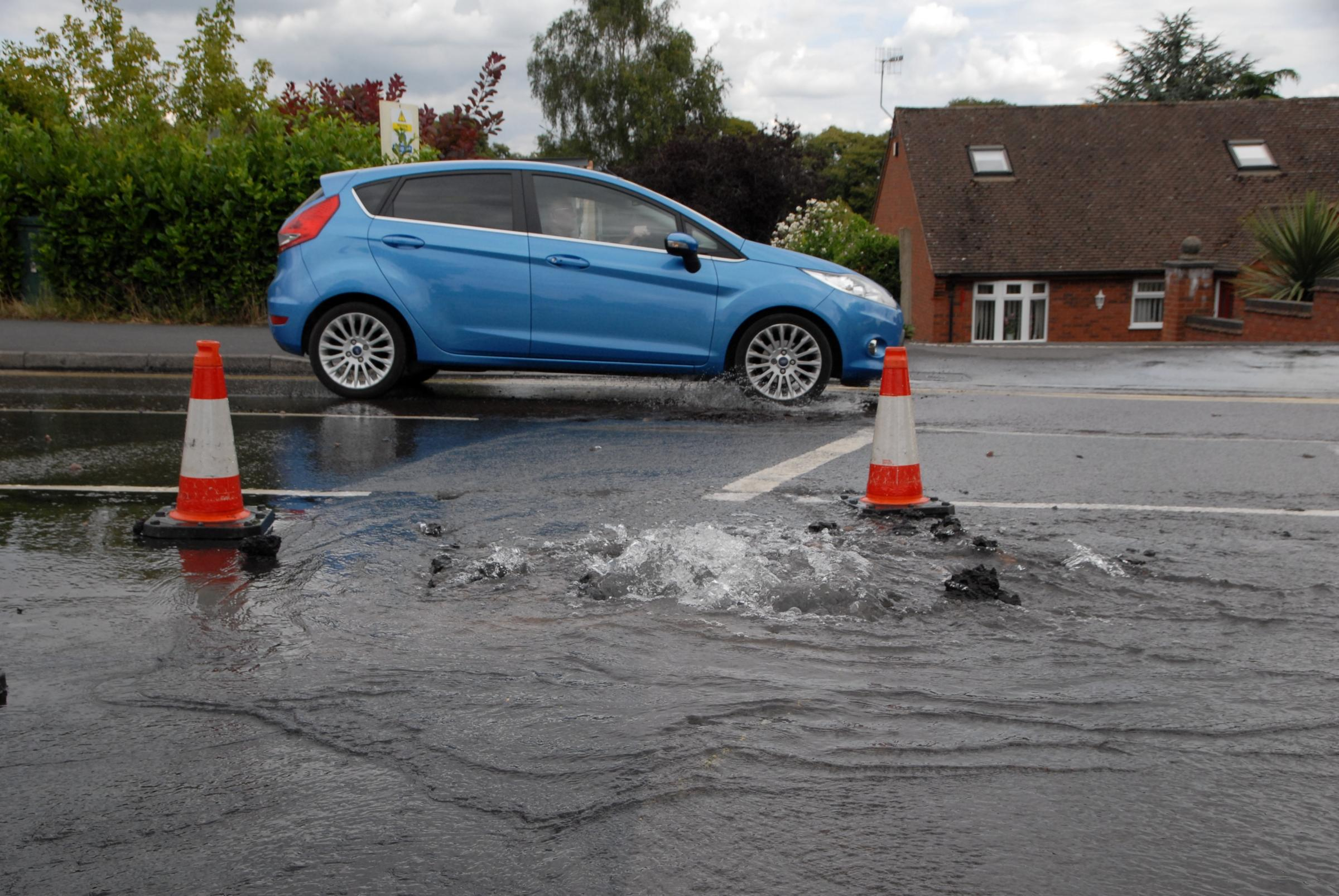 UPDATE: Water main fixed - but traffic lights to remain