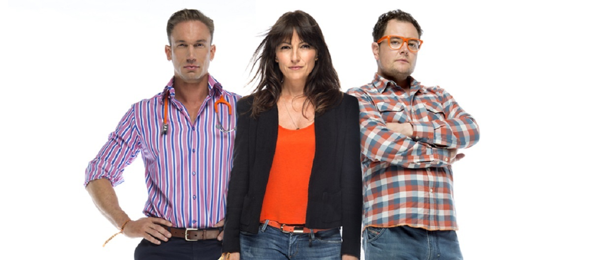 Dr Christian Jessen, Davina McCall and Alan Carr launch the Stand Up To Cancer c