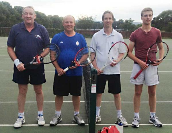 KING CUP: Evesham Tennis Club's (left to right) Ray Foster-Morison, Simon Wall, Paul Everatt and Rob Noble. Chris Francis, Andy Crowther and John Clarke complete the team.