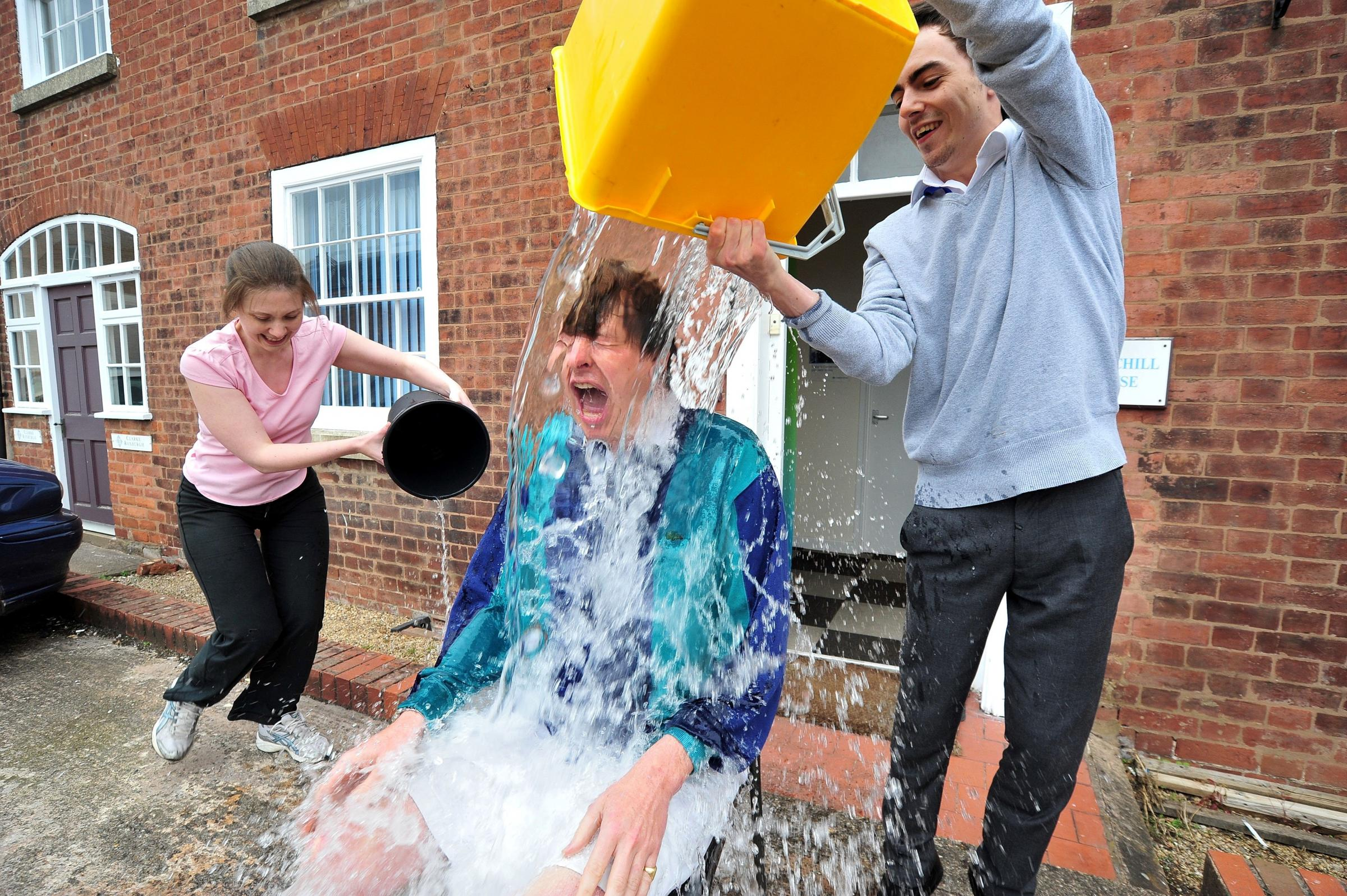 See Worcester MP Robin Walker get absolutely DRENCHED in the ice bucket challenge