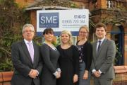 YOUNG TALENT: Senior partner at SME Brian O'Connell with new recruits Hannah Halden, Elizabeth Meddiings, Eleanor Rushforth and William Cadbury.