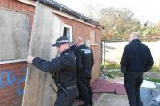 CANNABIS: The plants may have been found in a disused toilet but there was nothing bog-standard about the raid as officers dismantled the grow and bagged up the evidence.