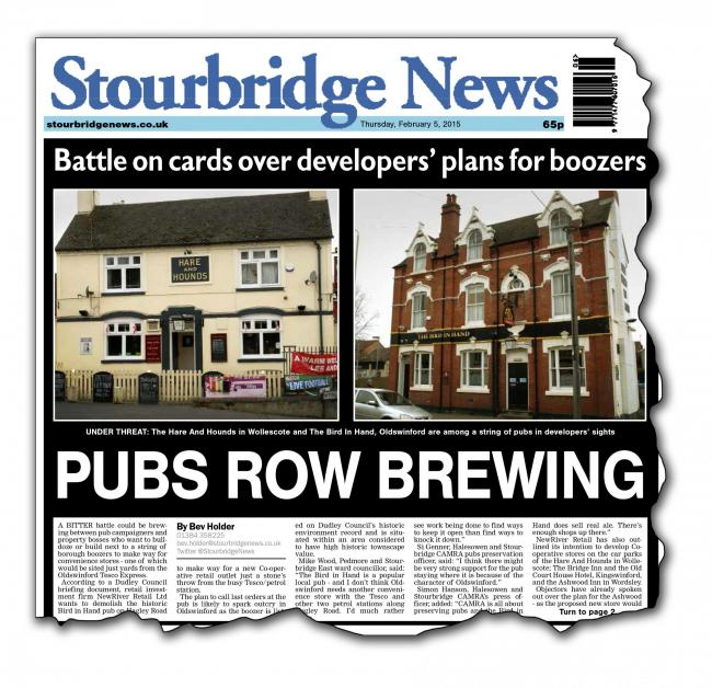 How we broke the story last week of NewRiver Retail's plan for borough pubs