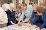 The Pembridge Tapestry group at work Photos: Bob Anderson