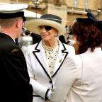 Evesham Journal: Princess Michael of Kent wore a patch on her eye at the garden party