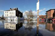 FLOODS: Newport Street and the Severn View hotel during the floods of February 2014.