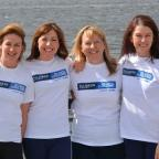 Evesham Journal: Helen Butters, Niki Doeg, Janette Benaddi and Frances Davies who are preparing to row the Atlantic (Talisker Whisky Atlantic Challenge/PA)
