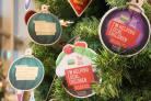 CHARITY: Baubles on the HomeSense Christmas tree in Worcester (52626211)