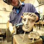 Evesham Journal: Watch how the famous Bafta mask is made