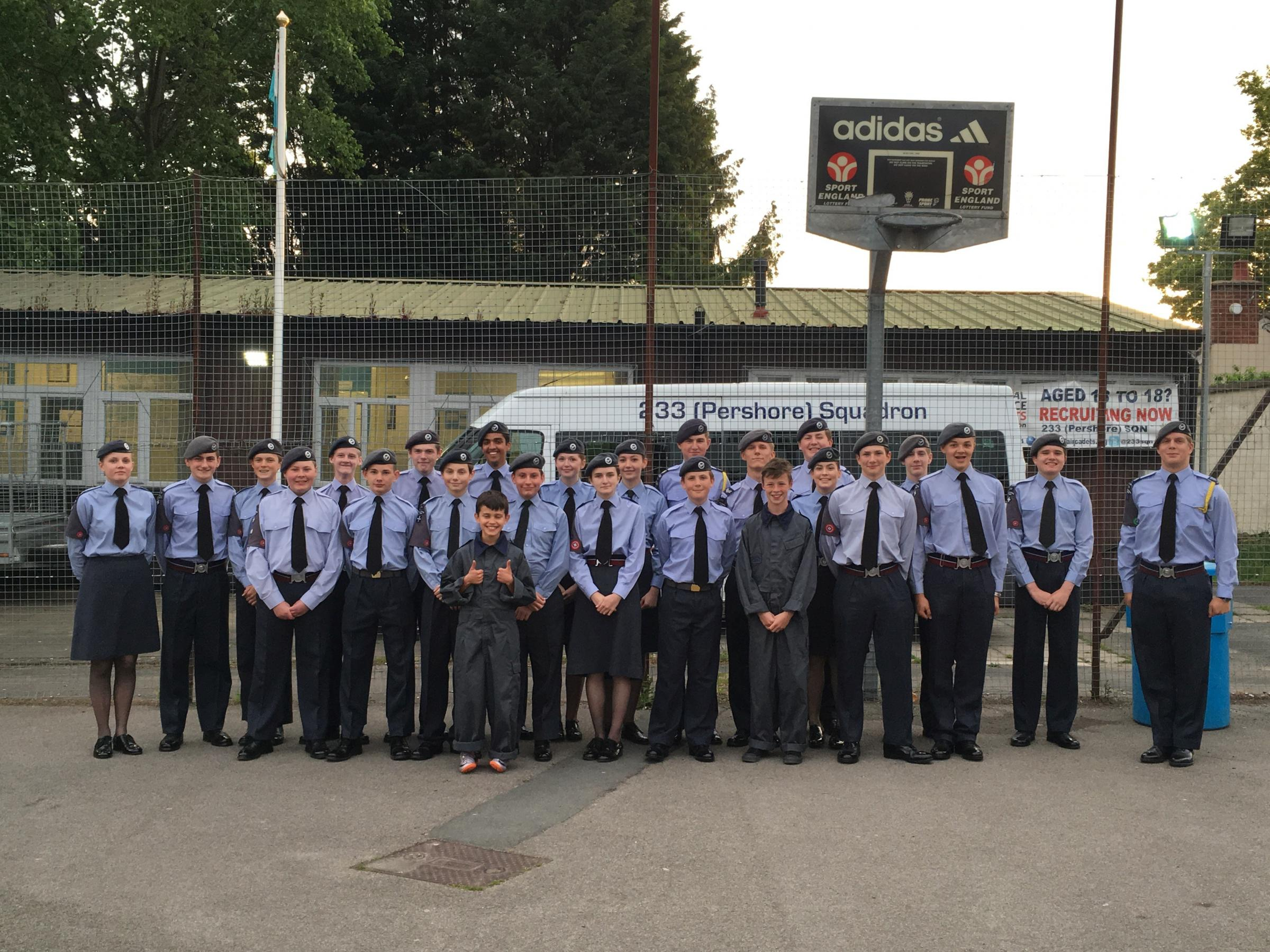 DONATION: 233 Squadron Air Training Corps at its base in Station Road, Pershore